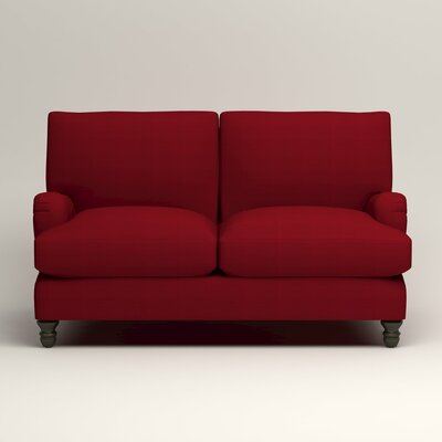 Montgomery Upholstered Loveseat Upholstery: Bayou Flame