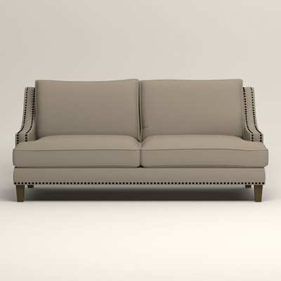 Larson Sofa with Toss Pillows Upholstery: Tibby Linen