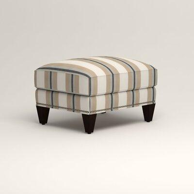Larson Ottoman Upholstery: Brinley Seabreeze, Nailhead Detail: Trim