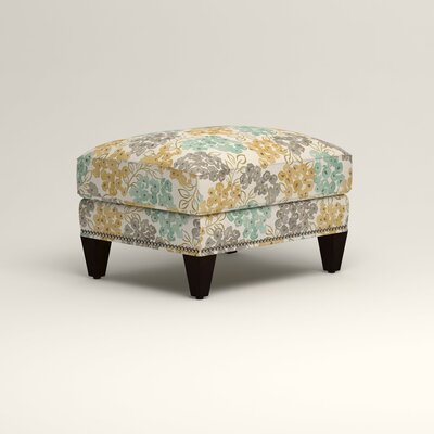 Larson Ottoman Upholstery: Wilmer Blooming Pool, Nailhead Detail: Trim