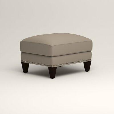 Larson Ottoman Upholstery: Jemma Silver Mist, Nailhead Detail: Trim