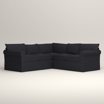 Jameson Symmetrical Sectional Orientation: Left Facing, Upholstery: Rowley Navy Tweed