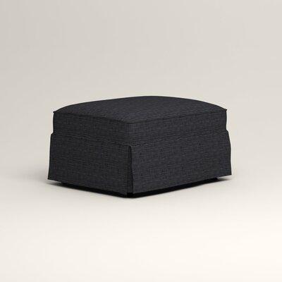 Jameson Ottoman Upholstery: Rowley Navy Tweed