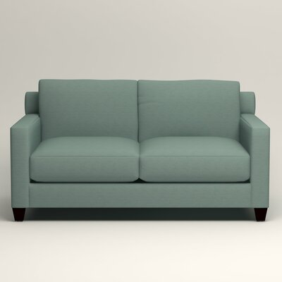 Kerry Loveseat Upholstery: Hilo Turquoise
