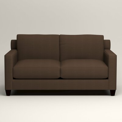 Kerry Loveseat Upholstery: Bayou Coffee