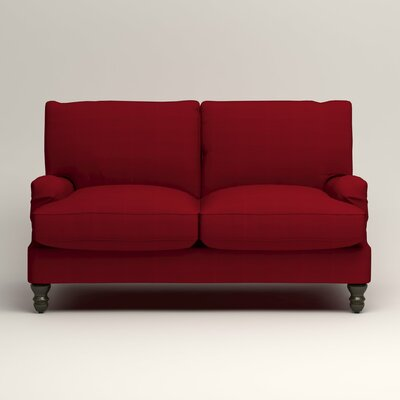 Montgomery Slipcovered Loveseat Upholstery: Bayou Flame