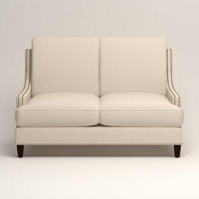 Larson Nailhead Trim Loveseat Upholstery: Tillery Vanilla