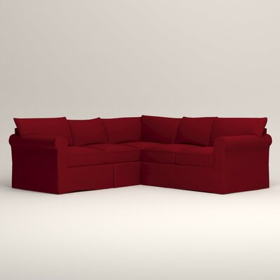 Jameson Symmetrical Sectional Orientation: Left Facing, Upholstery: Tillery Crimson