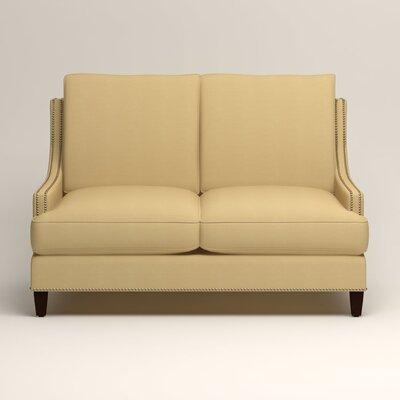 Larson Nailhead Trim Loveseat Upholstery: Tillery Sunglow