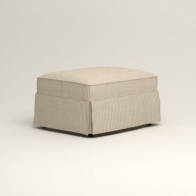 Jameson Ottoman Upholstery: Douglas Rustic Stripe