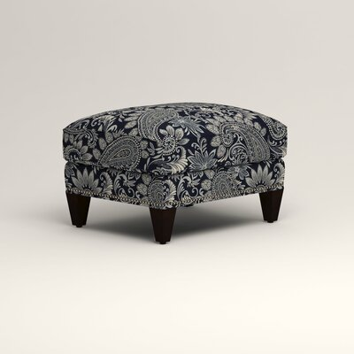 Larson Ottoman Upholstery: Wallace Midnight Paisley, Nailhead Detail: Trim