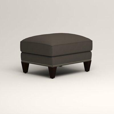 Larson Ottoman Upholstery: Jemma Storm Gray, Nailhead Detail: Trim