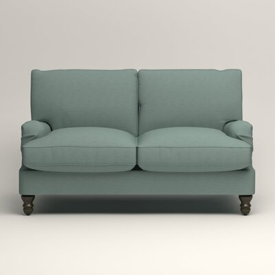 Montgomery Slipcovered Loveseat Upholstery: Hilo Turquoise