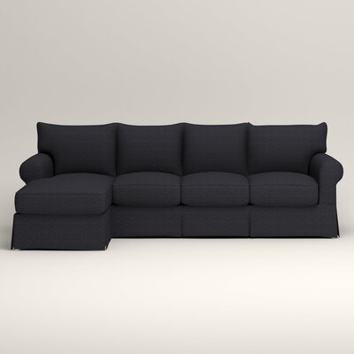 Jameson Sofa with Chaise Orientation: Left, Upholstery: Rowley Navy Tweed