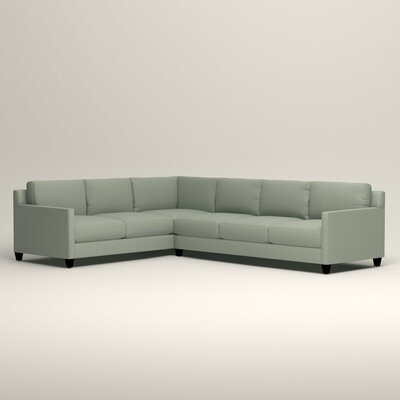 Kerry L-Shaped Sectional Orientation: Left Facing, Upholstery: Tillery Mint