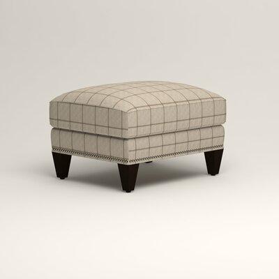 Larson Ottoman Upholstery: Burnham Parchment Windowpane, Nailhead Detail: Trim
