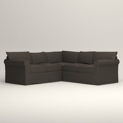 Jameson Symmetrical Sectional Orientation: Left Facing, Upholstery: Jemma Storm Gray