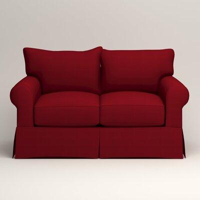 Jameson Loveseat Upholstery: Tillery Crimson
