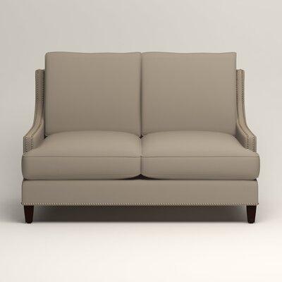 Larson Nailhead Trim Loveseat Upholstery: Tibby Linen