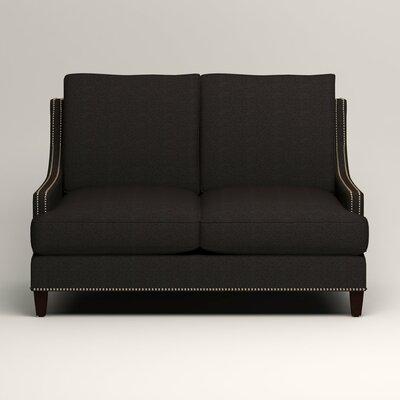 Larson Nailhead Trim Loveseat Upholstery: Bryant Ebony Textured Slub