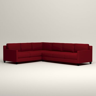 Kerry L-Shaped Sectional Orientation: Left Facing, Upholstery: Tillery Crimson