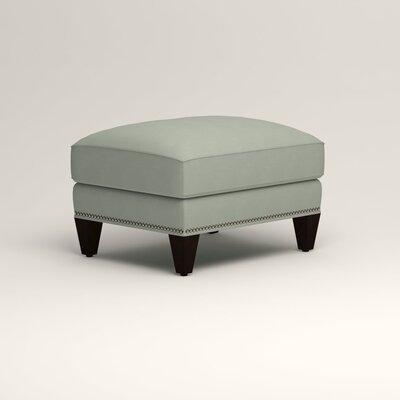 Larson Ottoman Upholstery: Tillery Mint, Nailhead Detail: Trim