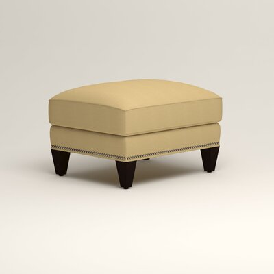 Larson Ottoman Upholstery: Tillery Sunglow, Nailhead Detail: Trim