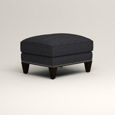 Larson Ottoman Upholstery: Rowley Navy Tweed, Nailhead Detail: Trim