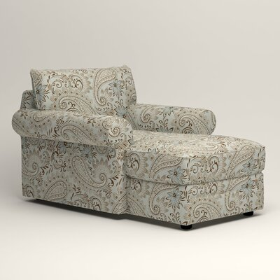Newton Chaise Upholstery: Wallace Moonstruck Paisley