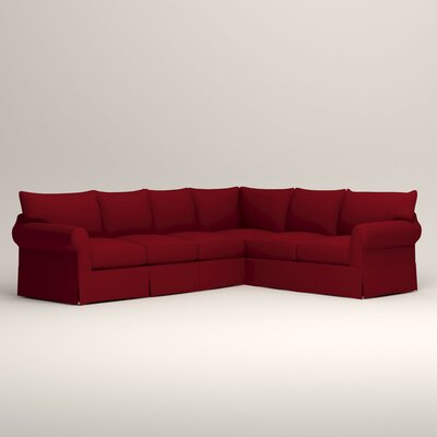 Jameson L-Shaped Sectional Orientation: Left Hand Facing, Upholstery: Tillery Crimson