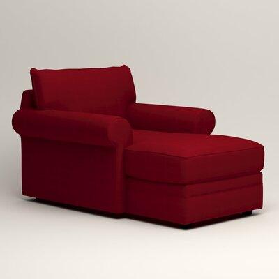 Newton Chaise Upholstery: Tillery Crimson