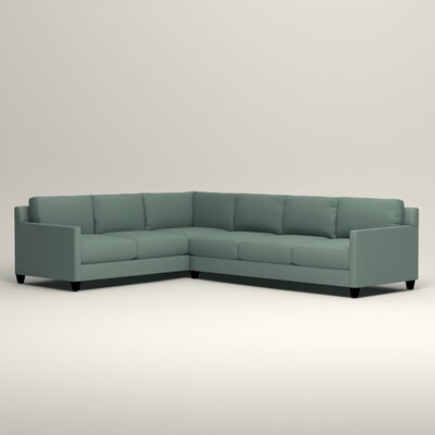 Kerry L-Shaped Sectional Orientation: Left Facing, Upholstery: Bryant Calypso Textured Slub