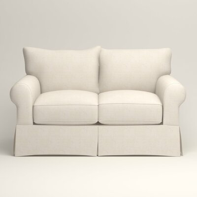 Jameson Loveseat Upholstery: Talc Basketweave
