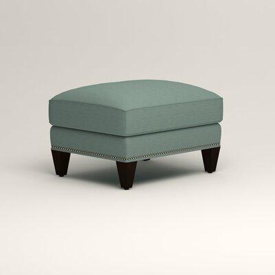Larson Ottoman Upholstery: Bryant Calypso Textured Slub, Nailhead Detail: Trim