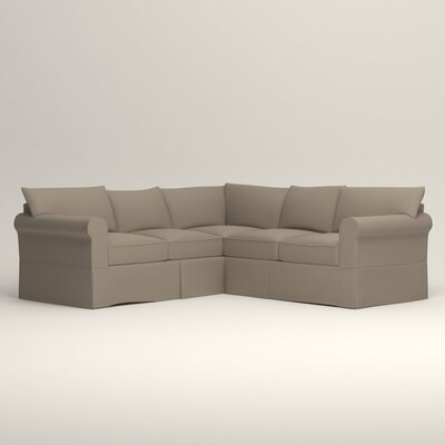 Jameson Symmetrical Sectional Orientation: Left Facing, Upholstery: Jemma Silver Mist