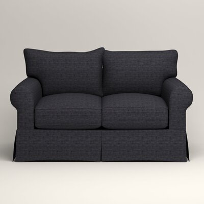 Jameson Loveseat Upholstery: Rowley Navy Tweed