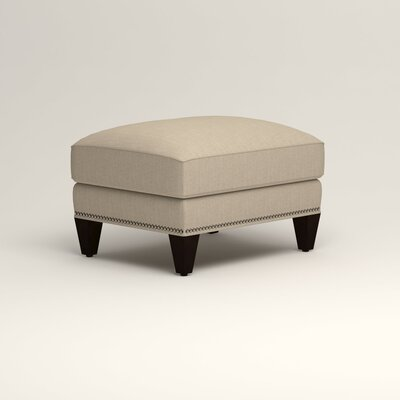 Larson Ottoman Upholstery: Watson Malt Blended Cotton, Nailhead Detail: Trim