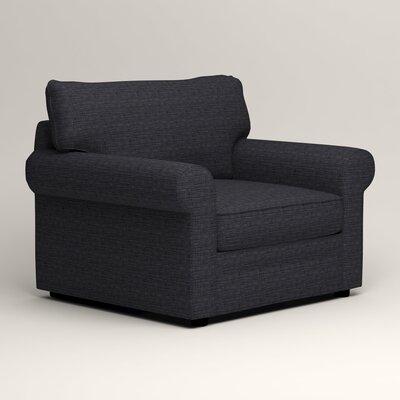 Newton Side Chair Color: Rowley Navy Tweed
