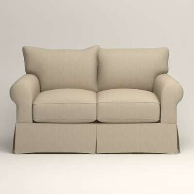 Jameson Loveseat Upholstery: Watson Malt Blended Cotton
