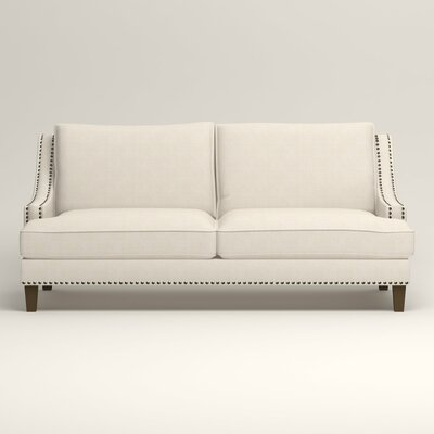 Larson Sofa with Toss Pillows Upholstery: Bevin Natural