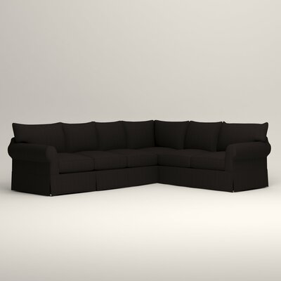 Jameson L-Shaped Sectional Orientation: Left Hand Facing, Upholstery: Bryant Ebony Textured Slub