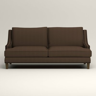 Larson Sofa with Toss Pillows Upholstery: Godiva Cognac