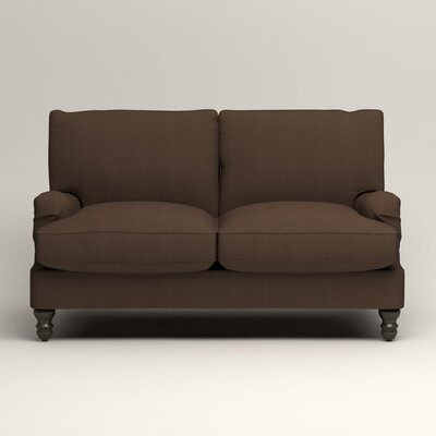 Montgomery Slipcovered Loveseat Upholstery: Bayou Coffee