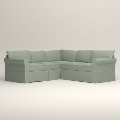 Jameson Symmetrical Sectional Orientation: Left Facing, Upholstery: Tillery Mint
