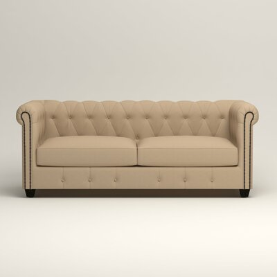Hawthorn Chesterfield Sofa Upholstery: Bayou Stone