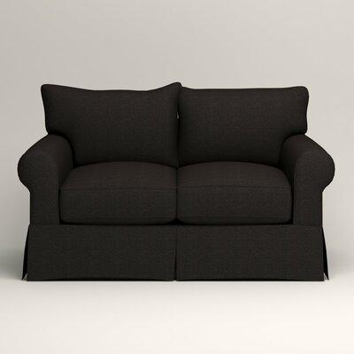 Jameson Loveseat Upholstery: Bryant Ebony Textured Slub