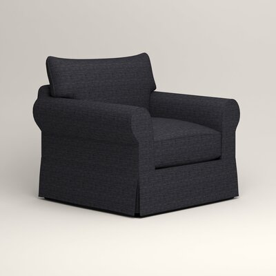 Jameson Chair Fabric: Rowley Navy Tweed