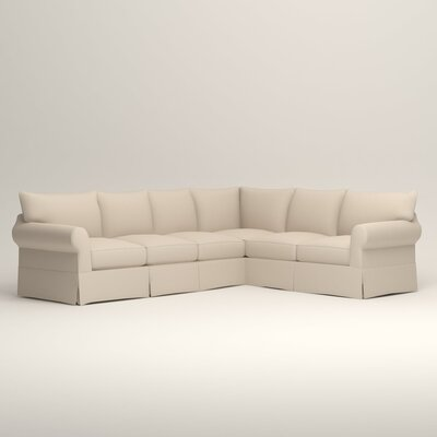 Jameson L-Shaped Sectional Orientation: Left Hand Facing, Upholstery: Tillery Vanilla