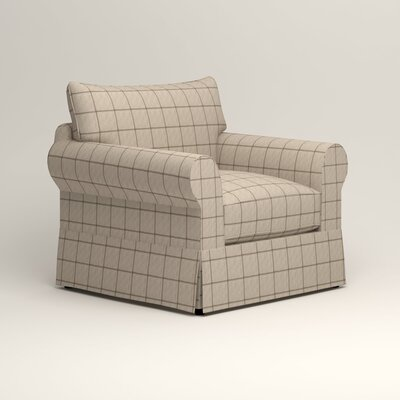 Jameson Chair Fabric: Burnham Parchment Windowpane