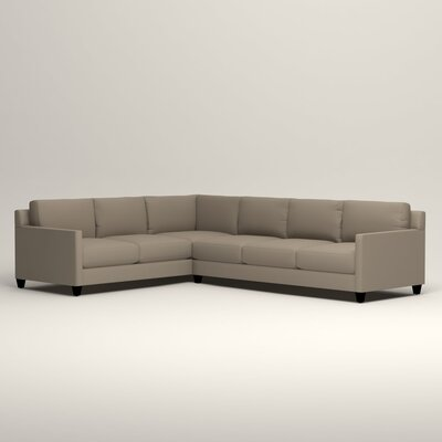 Kerry L-Shaped Sectional Orientation: Left Facing, Upholstery: Jemma Silver Mist